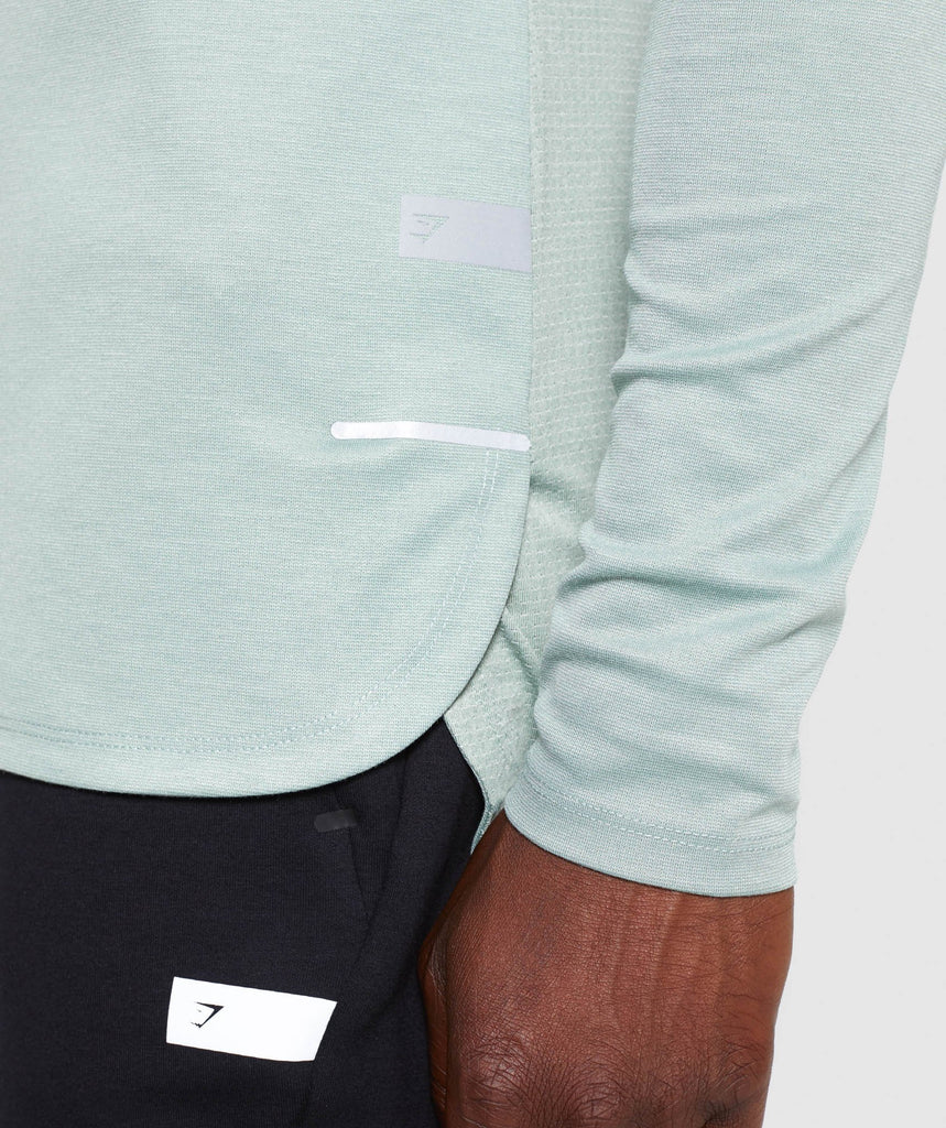 Gymshark Breathe Long Sleeve T-Shirt - Pale Green 6