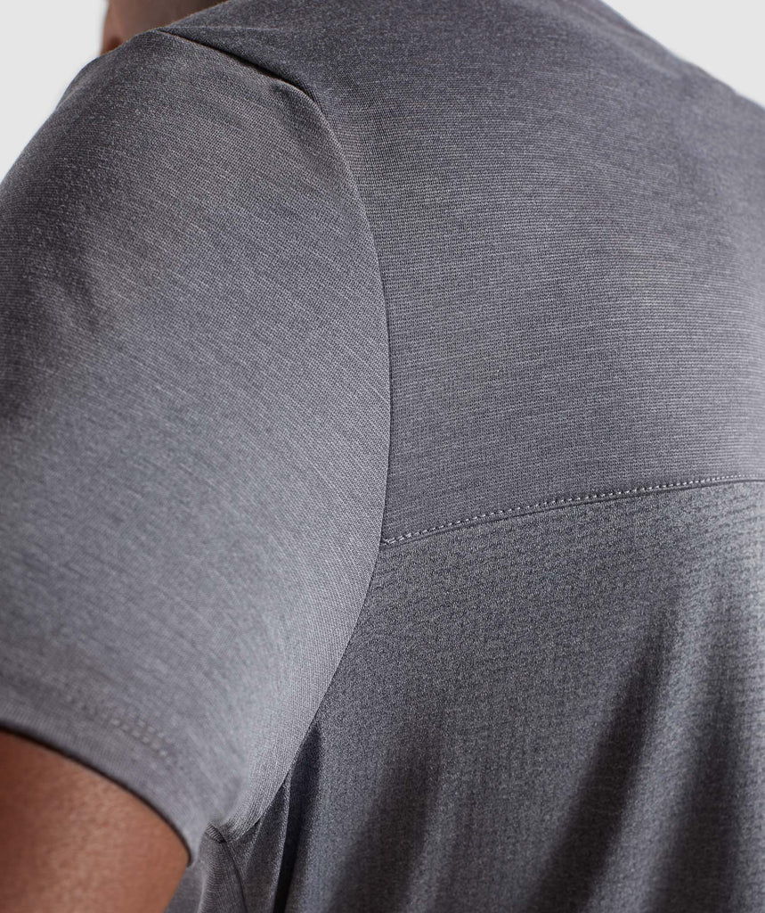 Gymshark Breathe T-Shirt - Smokey Grey Marl 6