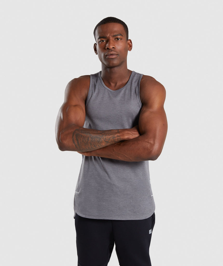Gymshark Breathe Tank - Smokey Grey Marl 1
