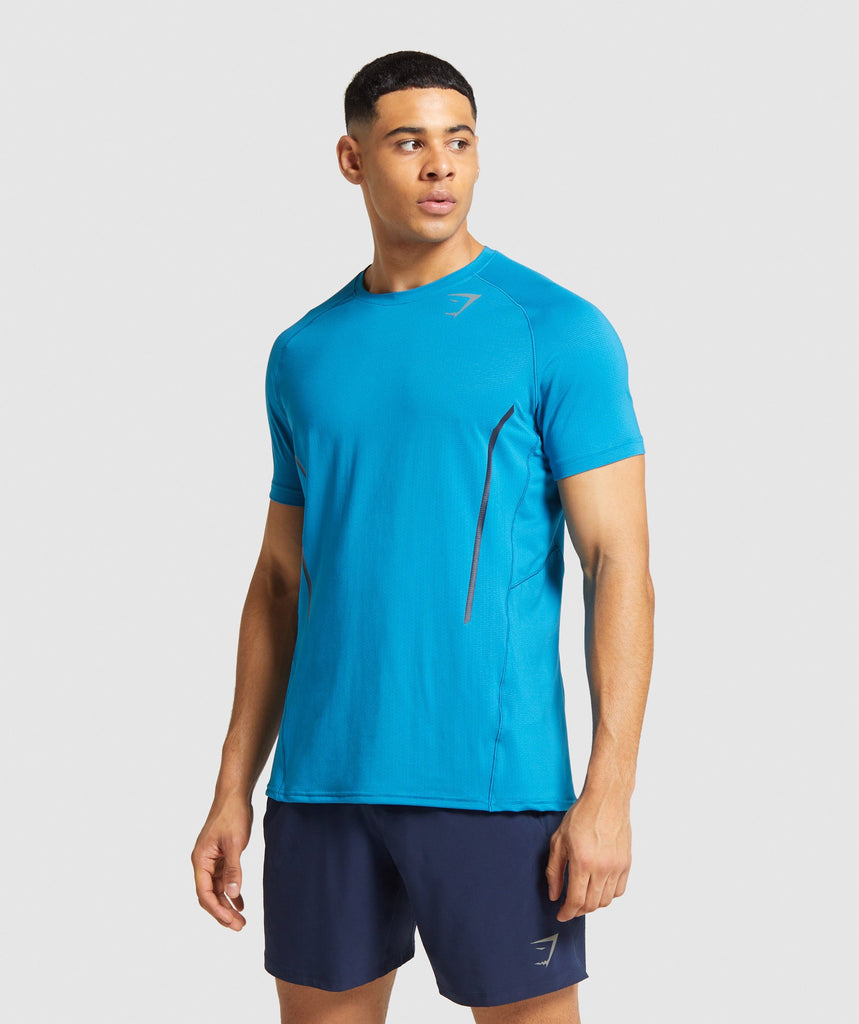 Gymshark Contemporary T-Shirt - Light Blue 1