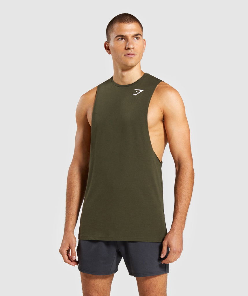 Gymshark Critical Drop Armhole Tank - Dark Green 1