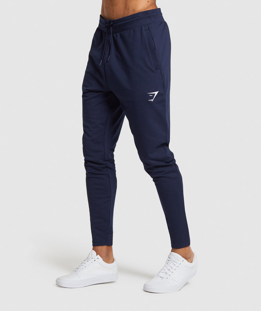 Gymshark Critical Zip Joggers - Dark Blue 1