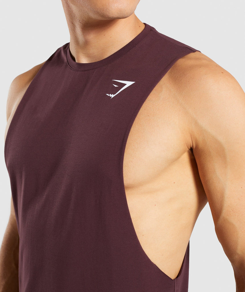 Gymshark Critical Drop Armhole Tank - Red 5