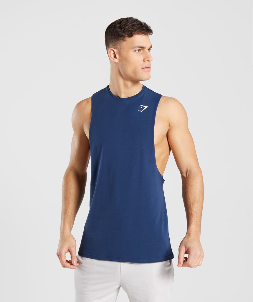 Gymshark Critical Drop Armhole Tank - Blue 4