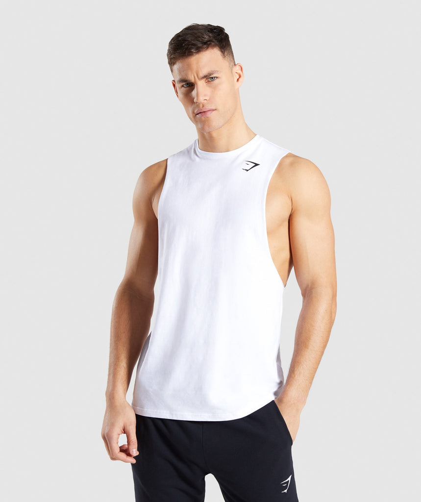 Gymshark Critical Drop Armhole Tank - White 1