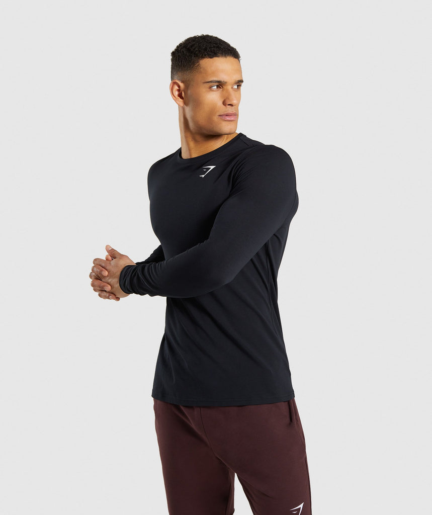 Gymshark Critical Long Sleeve T-Shirt - Black 1