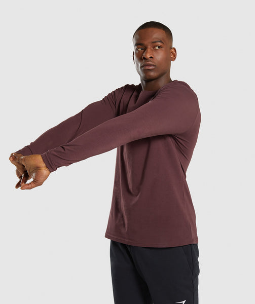 Gymshark Critical Long Sleeve T-Shirt - Red 2