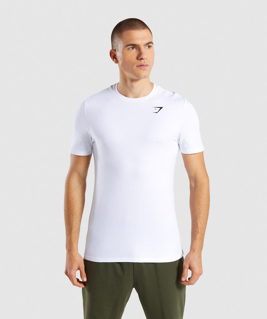 Gymshark Critical T-Shirt - White 1