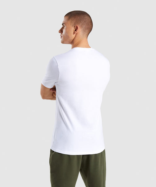 Gymshark Critical T-Shirt - White 4