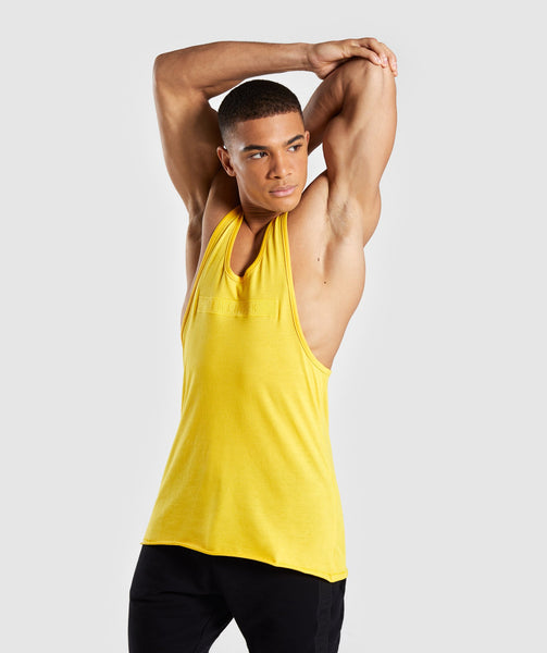 Gymshark Crucial Stringer - Yellow 4