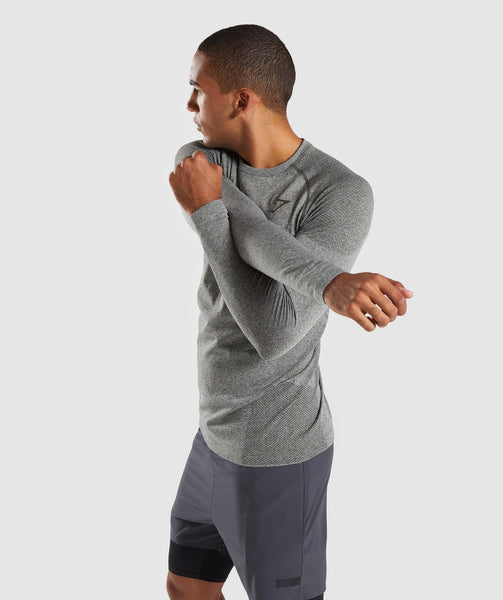 Gymshark Define Seamless Long Sleeve T-Shirt - Woodland Green Marl 2