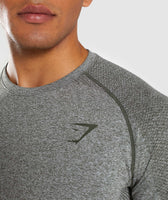 Gymshark Define Seamless Long Sleeve T-Shirt - Woodland Green Marl 11