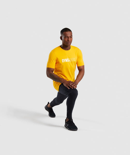 Gymshark Distort T-Shirt - Citrus Yellow 3