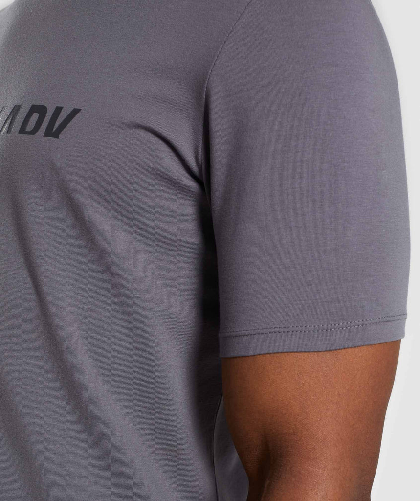 Gymshark Divide T-Shirt - Smokey Grey 5