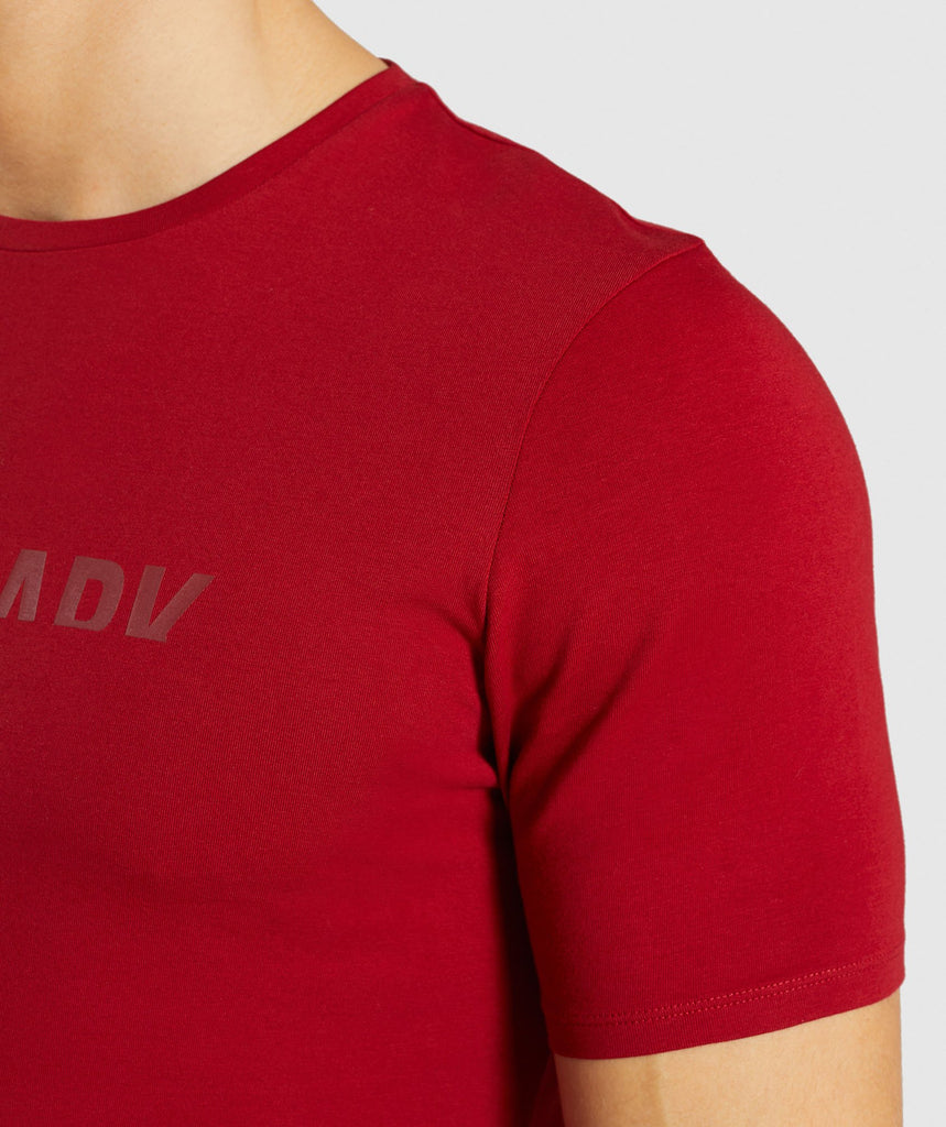 Gymshark Divide T-Shirt - Full Red 6