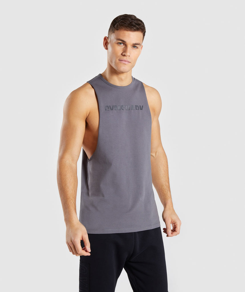 Gymshark Divide Tank - Smokey Grey 4