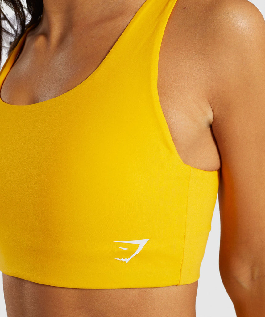 Gymshark Dreamy Sports Bra - Citrus Yellow 5
