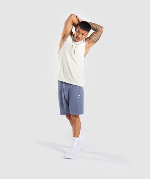 Gymshark Drop Arm Sleeveless Hoodie - Warm Beige 3