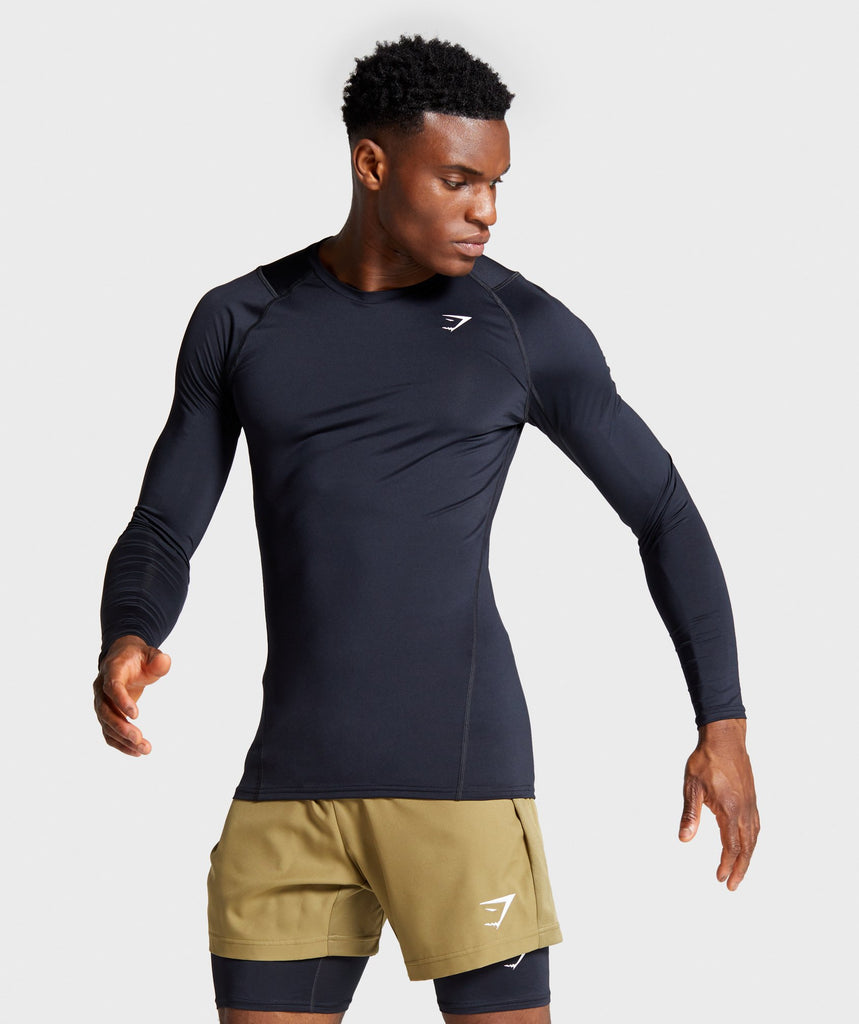 Gymshark Element Baselayer Long Sleeve T-Shirt - Black 1