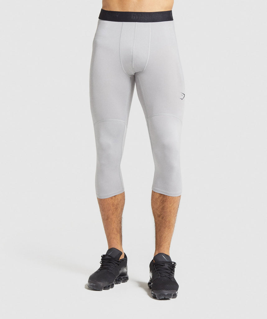 Gymshark Element Baselayer 3/4 Leggings - Light Grey 1