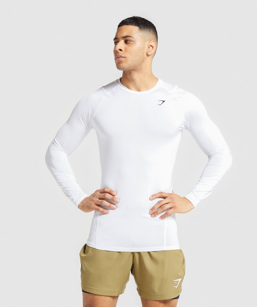 Gymshark Element Baselayer Long Sleeve T-shirt - White 1