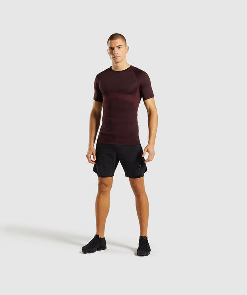 Gymshark Element+ Baselayer T-Shirt - Ox Red Marl 3