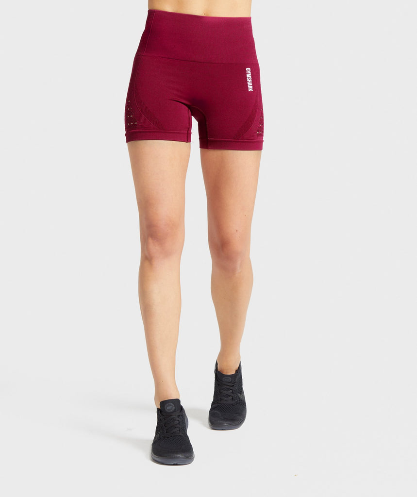 Gymshark Energy+ Seamless Shorts - Beet 1