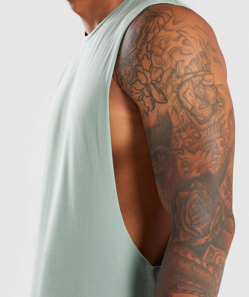 Gymshark Eaze Sleeveless T-Shirt - Pale Green 5