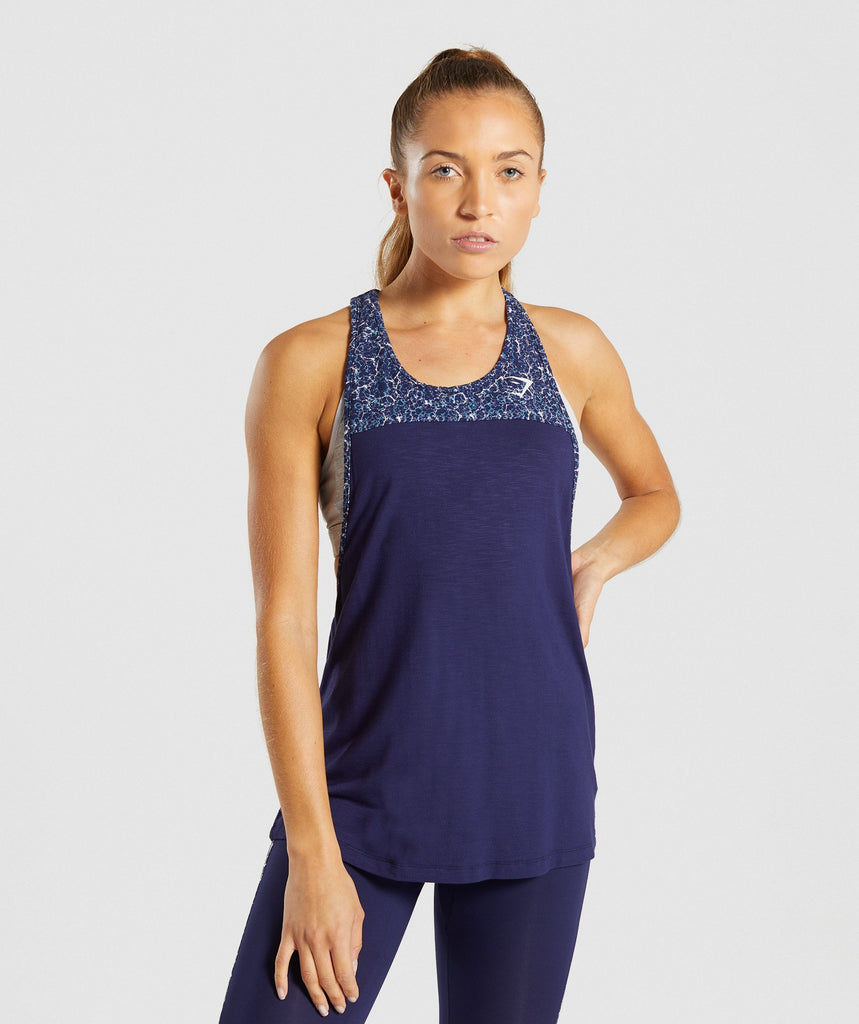 Gymshark Efflux Vest - Evening Navy Blue 4