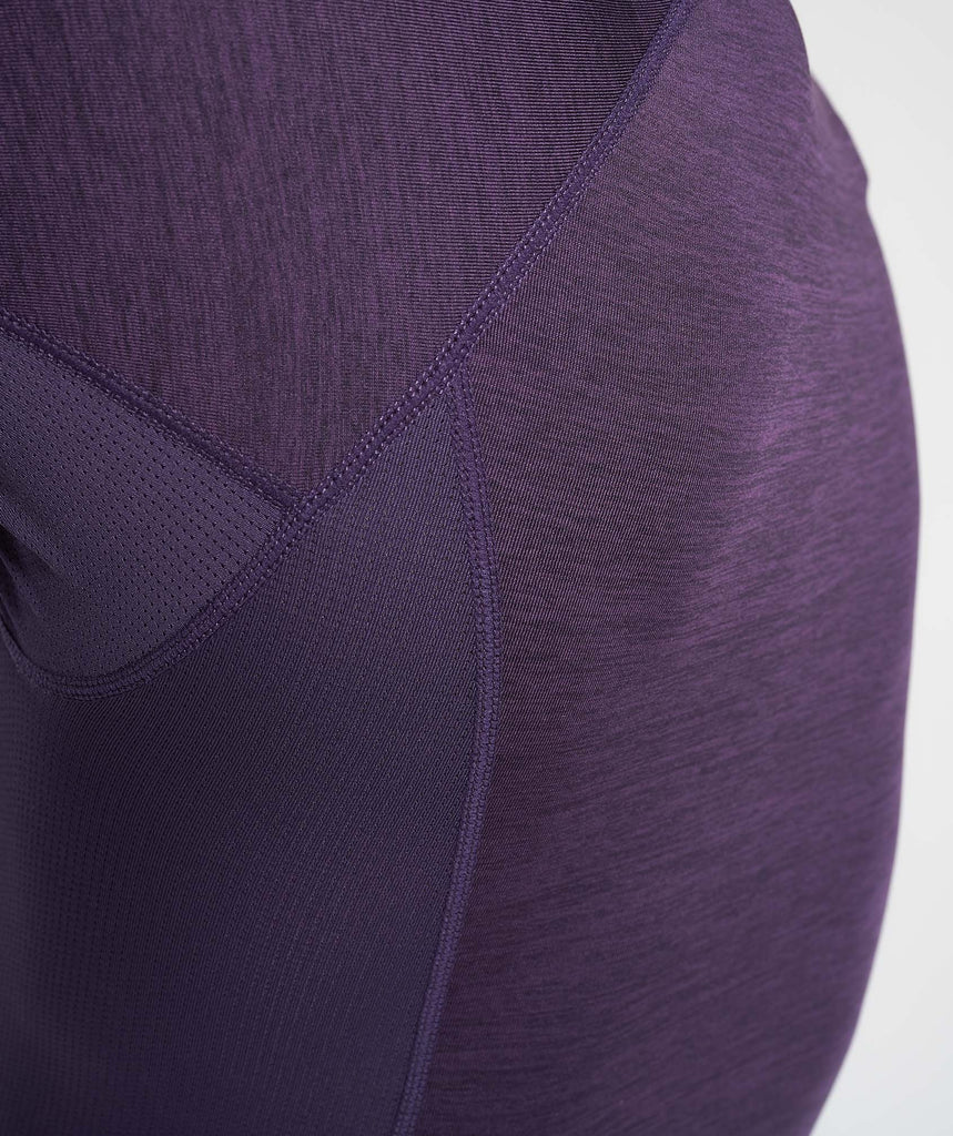 Gymshark Element Baselayer Short Sleeve Top - Nightshade Purple Marl 6