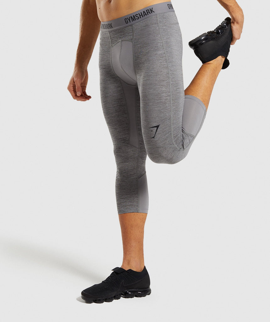 Gymshark Element+ Baselayer 3/4 Leggings - Smokey Grey 1