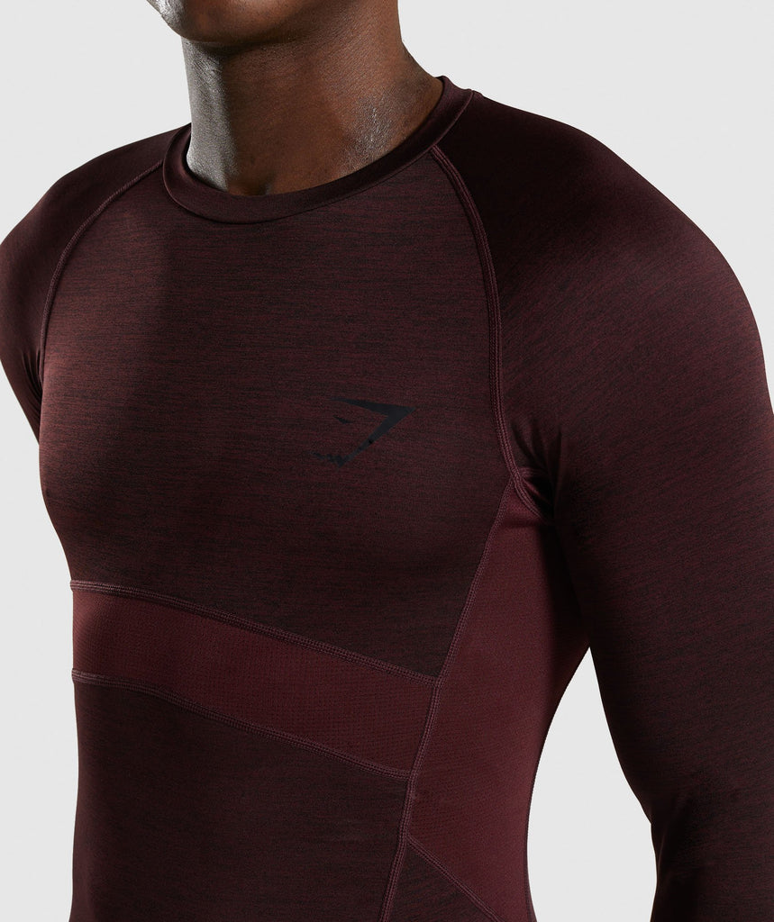 Gymshark Element+ Baselayer Long Sleeve Top - Ox Red Marl 5