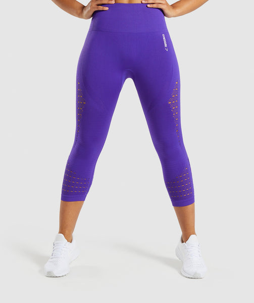 Gymshark Energy+ Seamless Cropped Leggings - Indigo 4