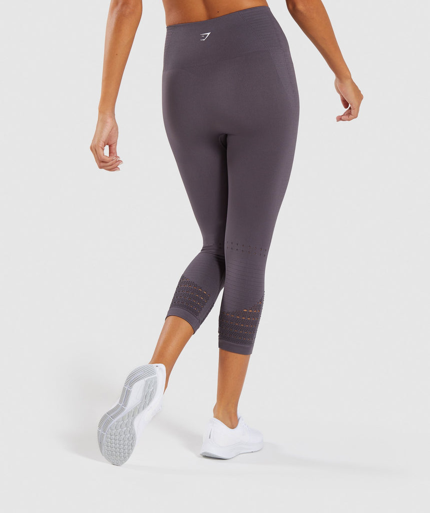 Gymshark Energy+ Seamless Cropped Leggings - Slate Lavender 2