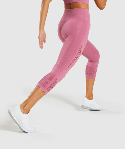 Gymshark Energy+ Seamless Cropped Leggings - Dusky Pink 1