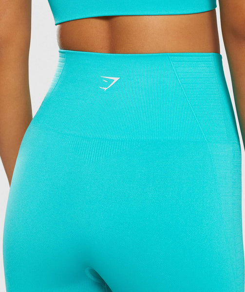 Gymshark Energy+ Seamless Cropped Leggings - Tropical Blue 4