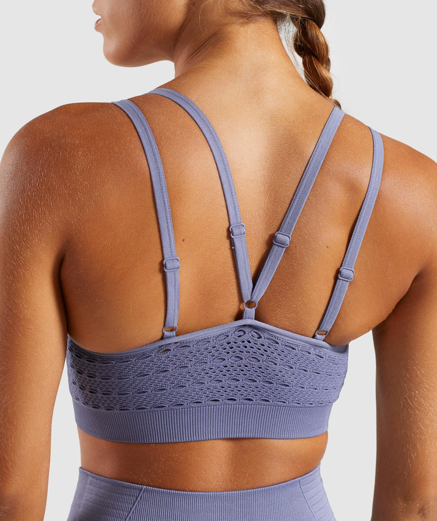 Gymshark Energy+ Seamless Sports Bra - Steel Blue 6