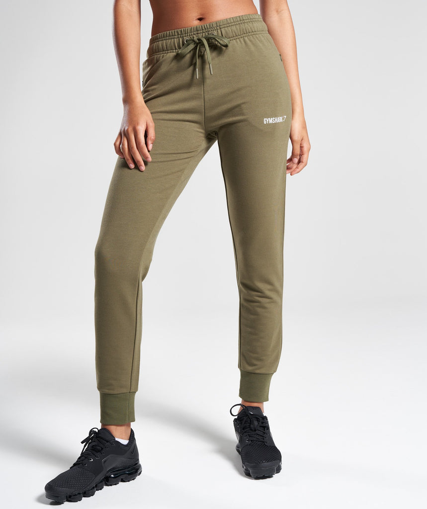 Gymshark Fit Bottoms - Khaki 1