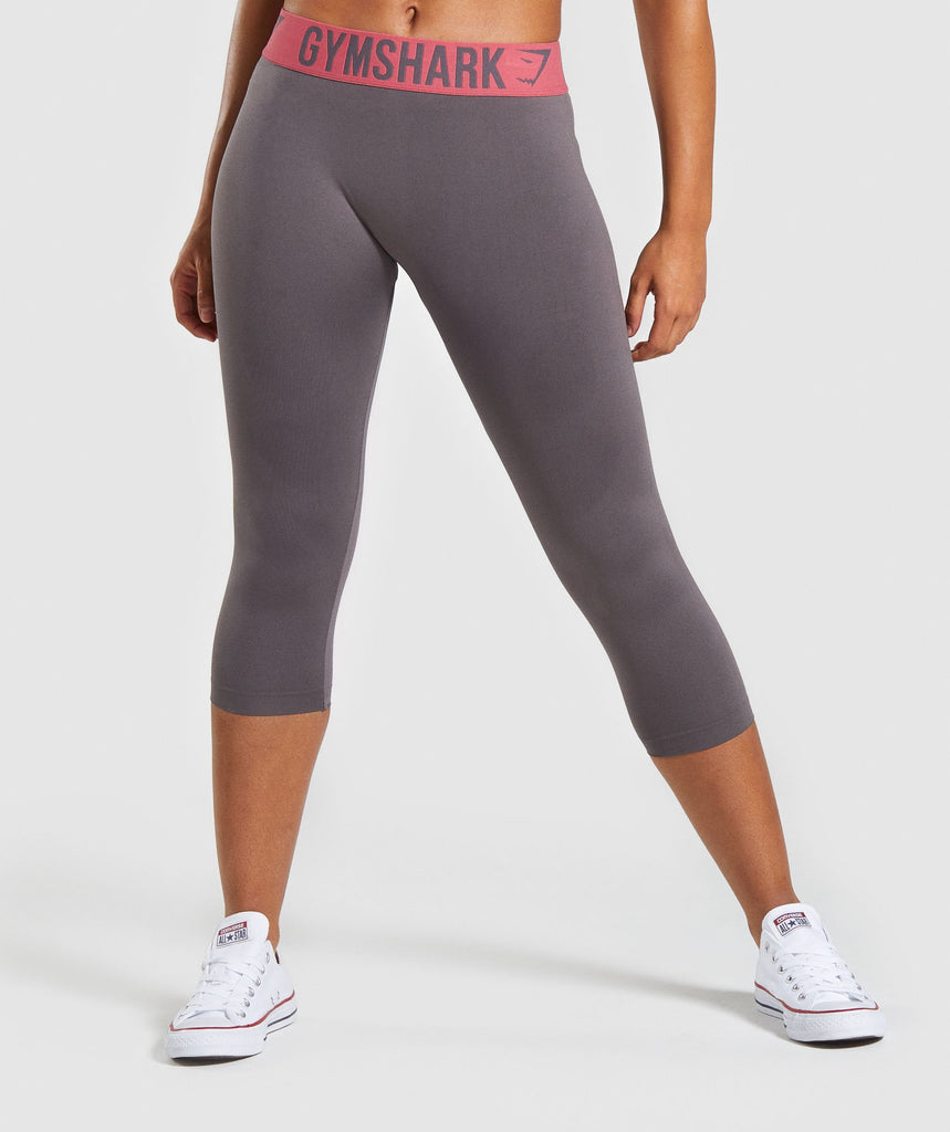Gymshark Fit Cropped Leggings - Slate Lavender/Rose 1
