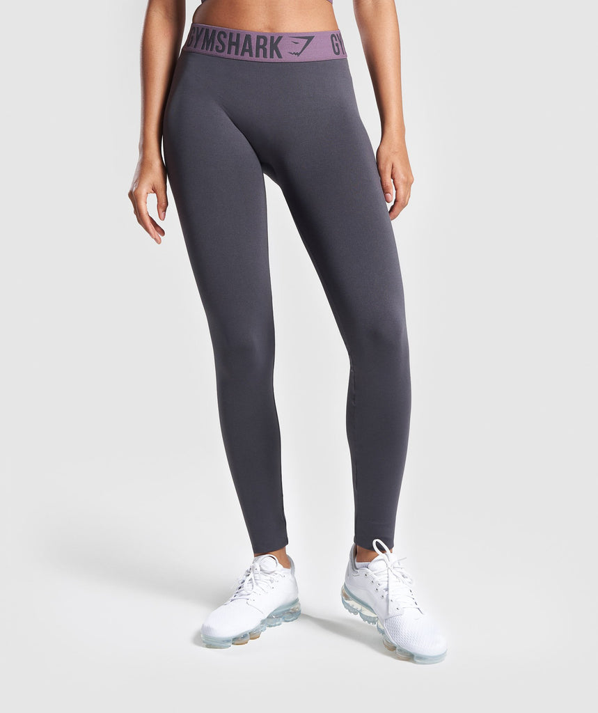 Gymshark Fit Leggings - Charcoal/Purple Wash 1