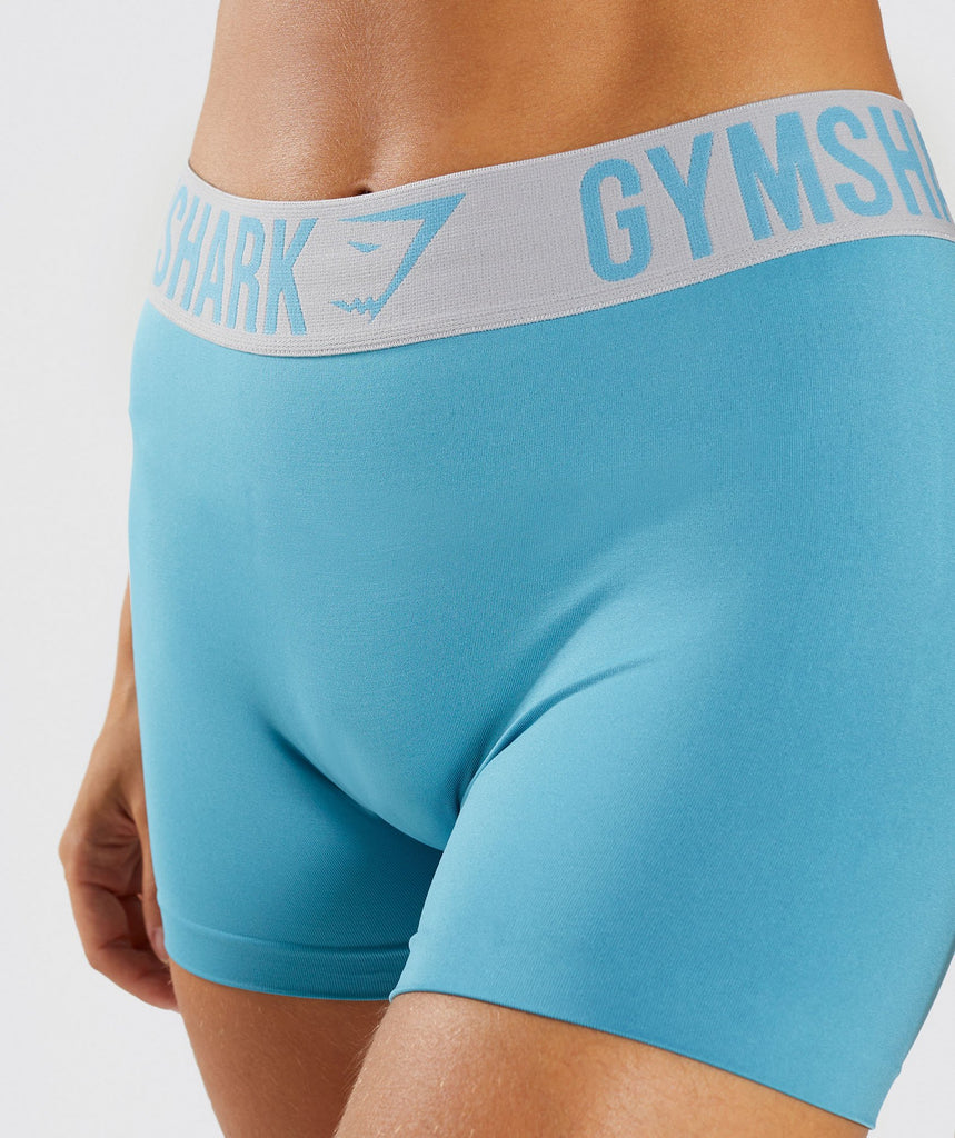 Gymshark Fit Shorts - Dusky Teal/Light Grey 6