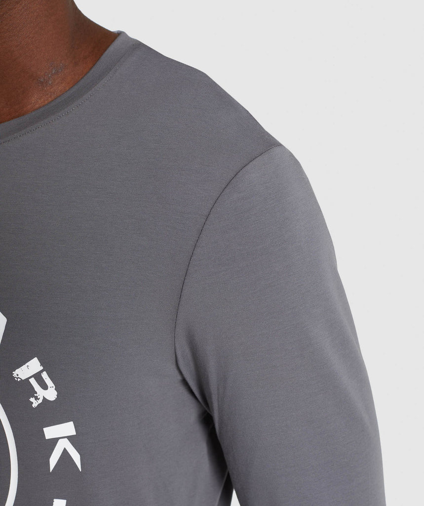 Gymshark Legacy Long Sleeve T-Shirt - Smokey Grey 6