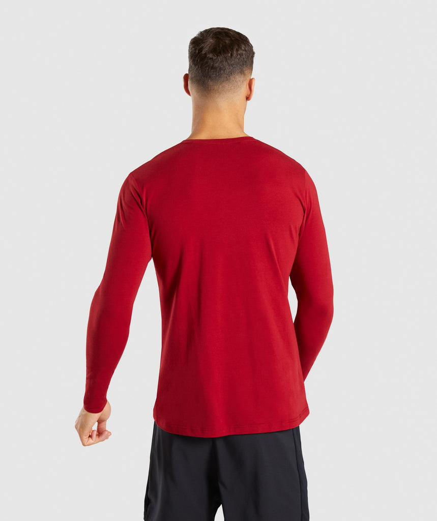 Gymshark Legacy Long Sleeve T-Shirt - Full Red 2