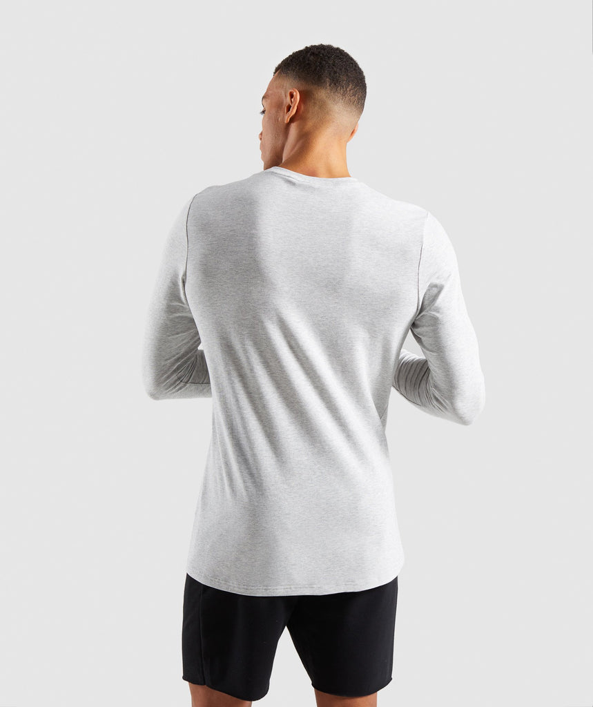 Gymshark Legacy Long Sleeve T-Shirt - Wolf Grey Marl 2