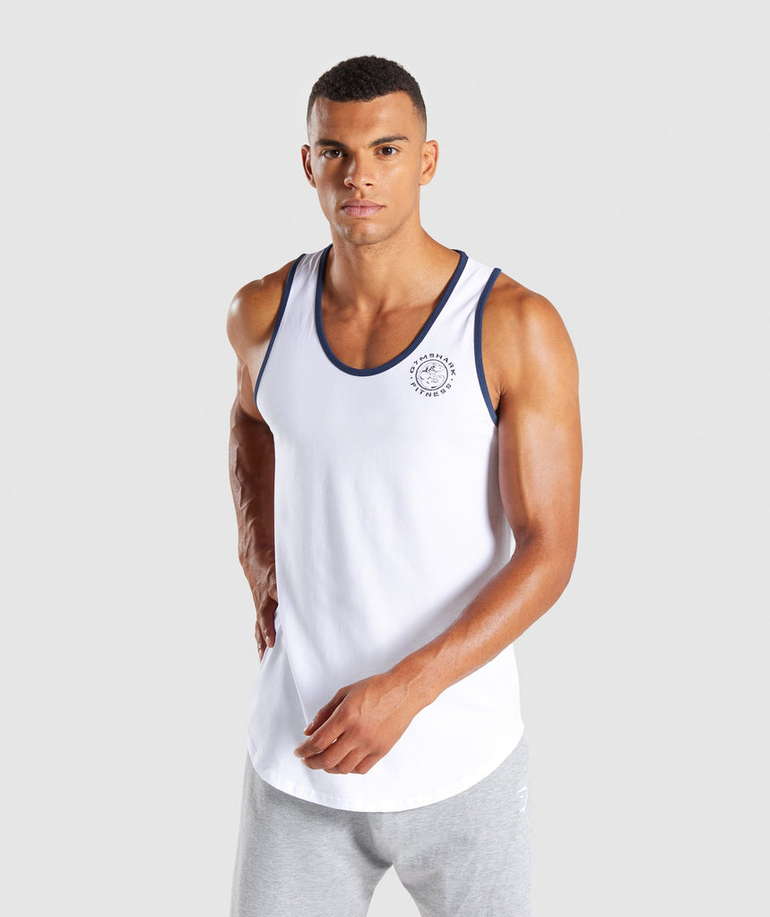 Gymshark Legacy Luxe Tank - White 1