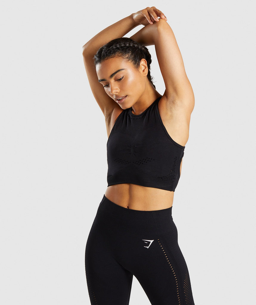 Gymshark Flawless Knit Sports Bra - Black 1