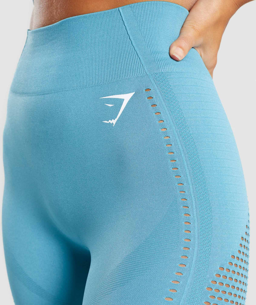 Gymshark Flawless Knit Tights - Sea Blue 5
