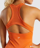 Gymshark Flawless Knit Vest - Burnt Orange 12