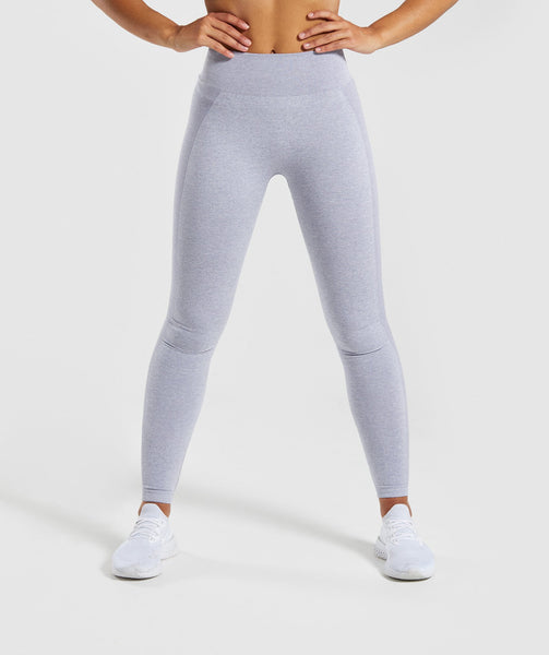 Gymshark Flex High Waisted Leggings - Blue/Grey 4