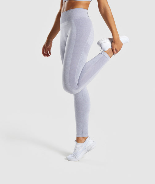 Gymshark Flex High Waisted Leggings - Blue/Grey 2